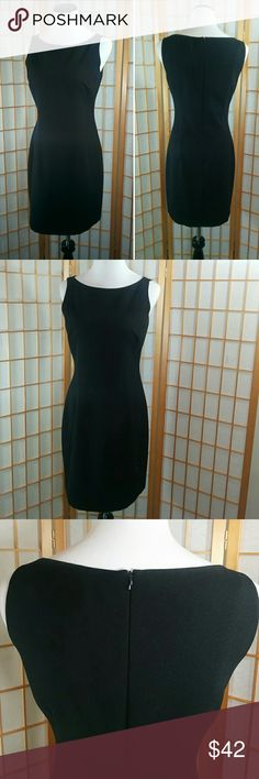"""Laundry by Shelli Segal little black dress Laundry by Shelli Segal simple but elegant little black dress. In excellent used condition. Measures 15"""" across the waist when laid flat and , 17"""" from armpit to armpit, 31"""" long from back neckline to hem. Back zipper. Size 8 Laundry by Shelli Segal Dresses"""
