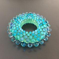 Very suptile pattern.  #sodalime #lampwork #dotsdotsdots #bullseyeglass