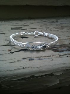 images of wire  weaving jewelry | Wire Weave Bangle Bracelet by MoonshineGems on Etsy, $19.99