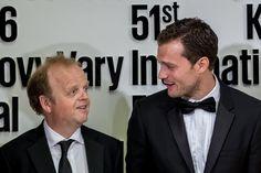 Jamie Dornan Photos - Actors Jamie Dornan (R) and Toby Jones pose for…