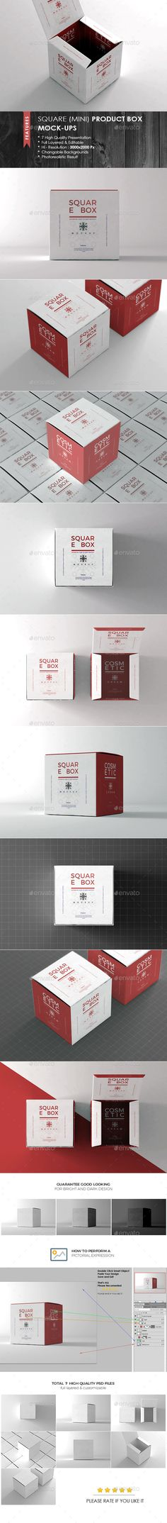 Square Box Mockup — Photoshop PSD #box #pack • Available here → https://graphicriver.net/item/square-box-mockup/19318009?ref=pxcr