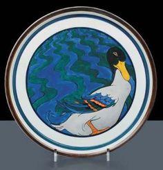 Piatto di parata, ceramica pezzo unico del 1922