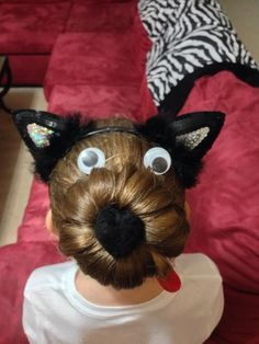 I did Maddy's hair like this for Crazy hair Day at school! Another great idea I got from Pinterest!!