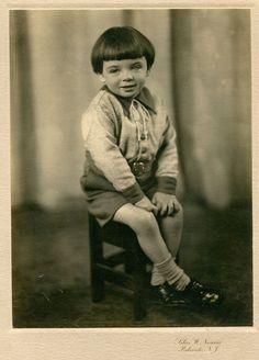 Palisade, NJ, Portrait of a Little Boy, by Nourse, circa 1930s