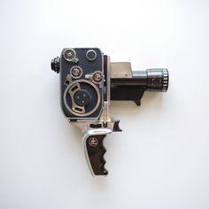 Bolex Zoom Reflex P1 - 8mm Movie Camera - Original Manuals - Pristine Condition by ThisCharmingManCave on Etsy  https://www.etsy.com/listing/248472854/