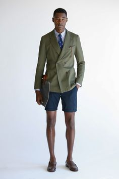 shorts suit / coffee and the newspaper