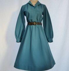 Vintage 50s  60s Blue Dress / Size 4  6 Dress // by CoolMintMoon, $29.00