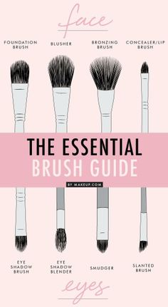 Knowing your brushes makes for the best makeup application. #DIY