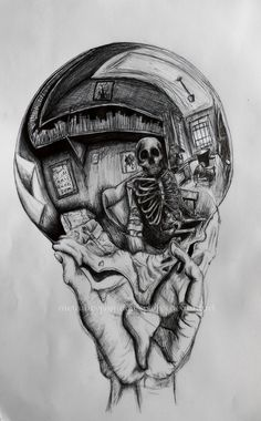 Hand with Reflecting Sphere - Skeleton
