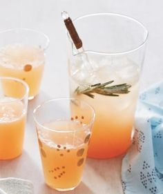 Rosemary Grapefruit Spritzer recipe—a sophisticated alternative to orange juice.