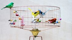 LA VOLIERE BIRD LAMPS BY MATHIEU CHALLIERES