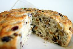 "Tuscan Coffeecake - make with a ""starter"" that you make the night before with yeast.  Raisins, dates, nuts yum!"