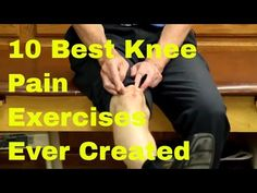 """10 Best Knee Pain Exercises Ever Created (Stretches & Strengthening) """"Famous"""" Physical Therapists Bob Schrupp and Brad Heineck demonstrate the 10 Best Knee Exercises Ever Created (Stretches and Strengthening). Stretches For Knees, Knee Strengthening Exercises, Knee Arthritis Exercises, Pool Exercises, Stretching Exercises, Fitness Exercises, Workouts, How To Strengthen Knees, Knee Pain Relief"""