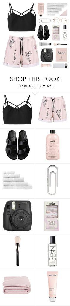 """WEEKEND"" by emmas-fashion-diary ❤ liked on Polyvore featuring American Rag Cie, philosophy, Sheridan, Bulgari, Prada, Fujifilm, Streamline NYC, MAC Cosmetics, NARS Cosmetics and Frette"