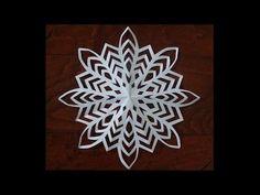 """「雪の結晶」折り紙クラフト""""Snowy crystal"""" origami craft - YouTube"""