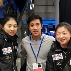 「With Team Japan's ladies in Tallinn. They skated really well! チームジャパンの一部 。#wjctallinn 」