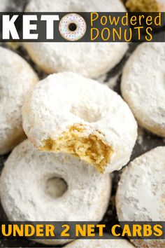 Keto Donuts, Healthy Donuts, Gluten Free Donuts, Healthy Cake, Keto Cookies, Low Carb Desserts, Low Carb Recipes, Paleo Recipes, Powdered Donuts