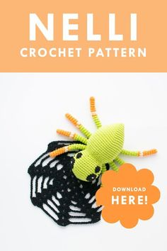 Crochet amigurumi spider pattern   Garnknuten   Make this super cute amigurumi spider with this easy to follow crochet pattern. Perfect for halloween! Crochet Food, A Hook, Crochet Hook Sizes, Crochet For Beginners, Crochet Patterns Amigurumi, Diy Toys, Stuffed Toys Patterns, Handmade Toys, Hand Towels