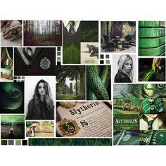 Slytherin by e-killen on Polyvore featuring art, harrypotter, slytherin, hogwarts, hp and PottermoreInPolyvoreMagicChallenge