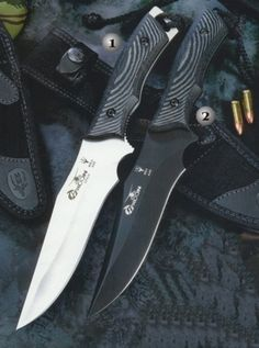 Muela knives, combat knife, Typhoon 15N-15W, Handle of black micarta