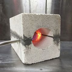 """Picture of How to make a Mini Forge. Steve Kubien: """"This is how I have forged the tools for my pole lathe (and a couple of other small things)."""""""