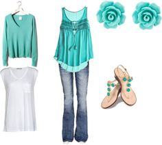 turquois, created by naomirpease on Polyvore