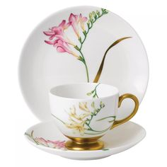 Entertain, gather, and turn your house into a home that's undeniably yours with the Floral Eden Footed Cup & Saucer Set by Wedgwood. Tea Cup Set, Cup And Saucer Set, Tea Cup Saucer, Tea Service, China Dinnerware, Wedgwood, Afternoon Tea, Bone China, Tea Time