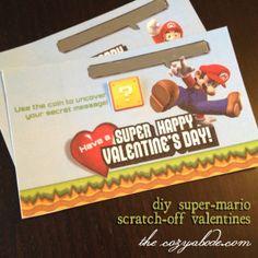 DIY Super Mario Valentines {Free Printables} #printable #valentine