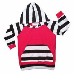 Long sleeve pink black white stripes long sleeve hoody, sweatshirt babies/toddlers/children boys girls unisex, french terry, hoodies - pinned by pin4etsy.com
