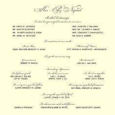 Wedding Invitation Sample Format