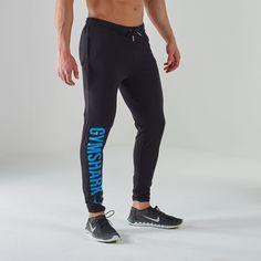GymShark Imprint Fitted Bottoms - Black/Blue