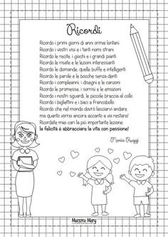 poesia saluto bambini fine anno Classroom, Words, Pinocchio, Children Images, Class Room, Horse