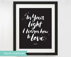 Digital Download Quran Quote In Your light by LittleWingsGallery