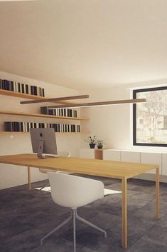 A simple yet impressive interior light, optimized for efficient lighting needs of various spaces. It is a perfect match above a dining table or office desk. Interior Lighting, Perfect Match, Desk Lamp, Finland, Bookshelves, Office Desk, Public, Dining Table, Woodworking