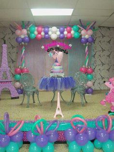poodle in paris birthday decoration