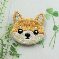 Cute Dog Shiba Patch Embroidered Face Iron On Sew On Patches in Crafts, Sewing & Fabric, Sewing | eBay
