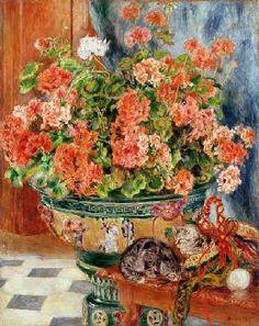 Pierre-Auguste Renoir - Geraniums and Cats