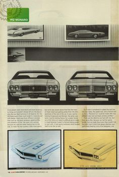 Some early design concepts for the HQ. Holden Monaro, Holden Australia, Aussie Muscle Cars, Australian Cars, Auto Design, Car Drawings, Kit Cars, Design Concepts, General Motors