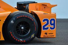 Fernando Alonso's Indy 500 Car Furiously GoesMcLaren Honda Orange