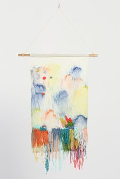 Stampel + Dagmar Medium Wall Hanging//Textile wall hanging created by Bendigo-based artist Andrea Shaw exclusively for Dagmar Rousset.