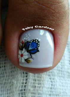 56 Modelos de Unhas de Pés e Mãos combinadas! Perfeito Crazy Nail Designs, Toe Nail Designs, Toe Nail Art, Easy Nail Art, Cute Pedicures, Pretty Toe Nails, Crazy Nails, Bridal Nails, Nail Spa