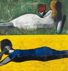 View DOUBLE IMAGE IV By Charles Blackman; Oil on canvas; Access more artwork lots and estimated & realized auction prices on MutualArt. Australian Painting, Australian Artists, Alice In Wonderland Series, Picasso And Braque, Double Image, Unusual Art, Modern Artists, Art Auction, Art Inspo