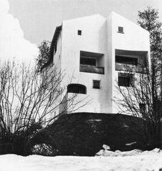 Brunner Sanina - Architect - Rudolf Olgiati - Casa las Caglias in Flims Switzerland - Arch House, Mountain Homes, Classical Architecture, Vocabulary, Restoration, Home And Family, Building, Outdoor, Image