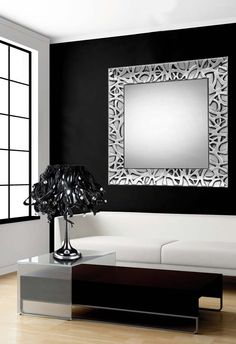 Speil i tre, modell HAMAR Sølv. Farmhouse Wall Mirrors, Wall Mirrors Entryway, White Wall Mirrors, Lighted Wall Mirror, Rustic Wall Mirrors, Contemporary Wall Mirrors, Wall Mirror With Shelf, Round Wall Mirror, Closet Mirror