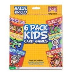 6-Pack Classic Kid Card Games