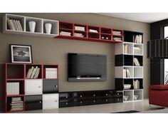 Sala de TV com a TV na Parede!     A TV pode ser fixada diretamente na parede ou em um painel . Se houver um painel é possível passar os ...