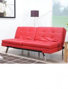 Modern Red Futon