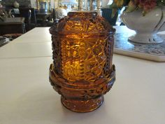 Fairy Lamp, Amber Glass, Lamps, Vase, Beautiful, Vintage, Home Decor, Products, Lightbulbs