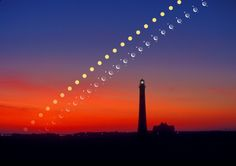 Solar System Rising Over Fire Island Copyright: Larry Landolfi (Landolfi Photography)  A series of time exposures caught, left to right, the Sun, Venus, the Moon, and Jupiter, all rising in the ecliptic plane behind Fire Island, New York, USA. Exposures were taken every six minutes and digitally superposed on an image taken from the same location at sunrise. To see such a sight, however, you will need to look in the direction of the ecliptic.