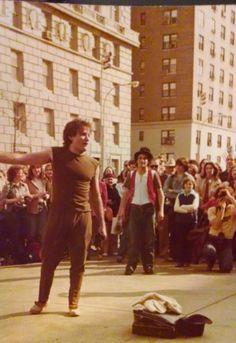 Robin Williams, artiste de rue. New York, 1979.